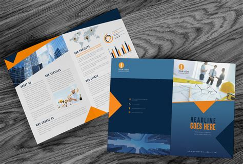 mockup graphic design definition free brochure mock up psd with wooden background