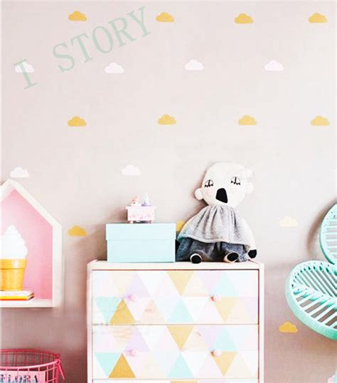 gold wall stickers gold cloud wall decal stickers white cloud wall decals