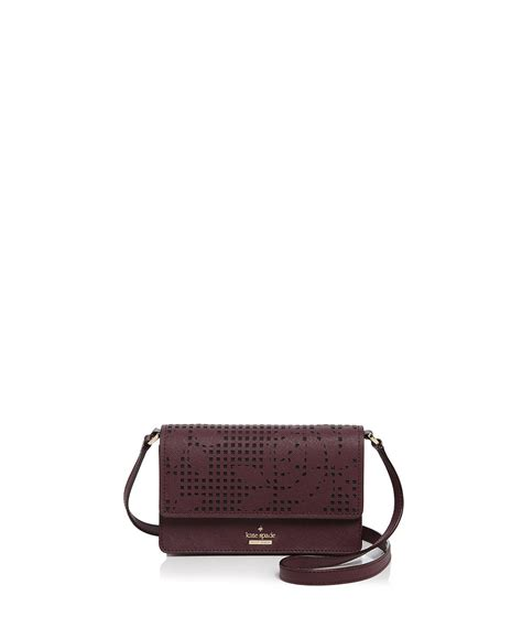 Kate Spade 2in1 926 lyst kate spade cameron arielle perforated leather crossbody