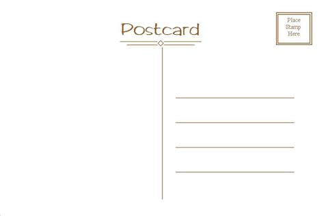 Make Card Template by Postcard Template Free Cyberuse