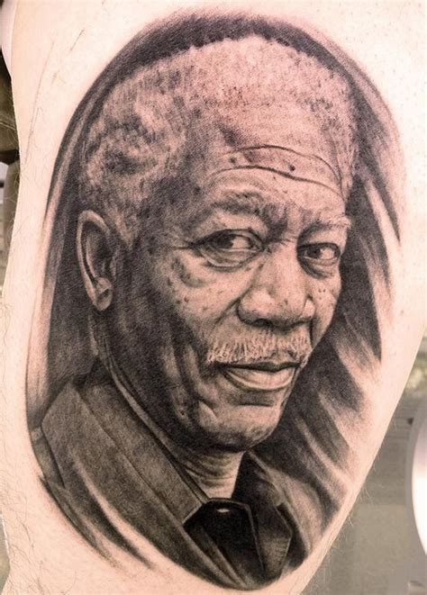 morgan freeman by pepper tattoonow