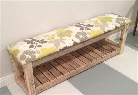 pallet bench diy diy reclaimed wood pallet bench mudroom bench 99 pallets