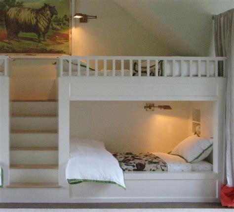 white built in bunk bed plans home design ideas built in