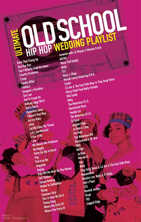 Wedding Singer Song List by School Hip Hop Wedding Playlist Most Requested 90 S