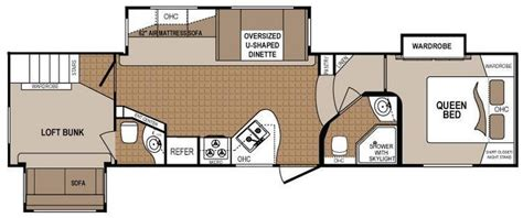 rv 2 bedroom floor plans 2 bedroom 5th wheel floor plans google search rv
