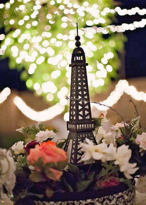 paris themed centerpieces paris themed wedding table centerpiece weddings pinterest