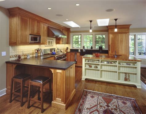 cherry oak kitchen cabinets cherry oak cabinets kitchen traditional with coffered