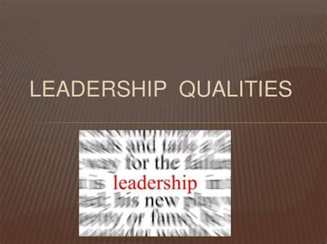 powerpoint templates for leadership qualities leadership qualities