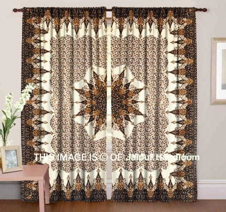 indian design curtains mandala hippie tapestry curtains window door drapes valances