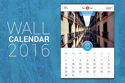home design editorial calendar 2016 wall calendar 2016 stationery templates on creative market