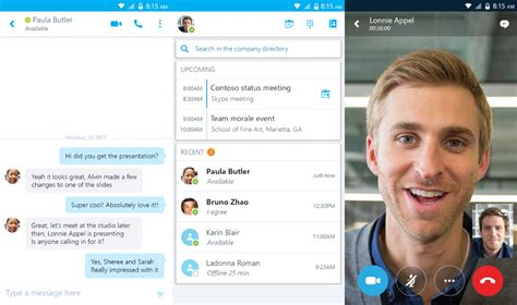 skype mobile android microsoft releases skype for business for android