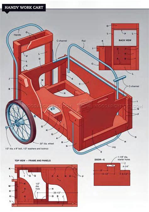 diy work cart woodarchivist