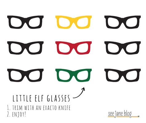 Printable Elf Glasses | november 2012 see jane blog