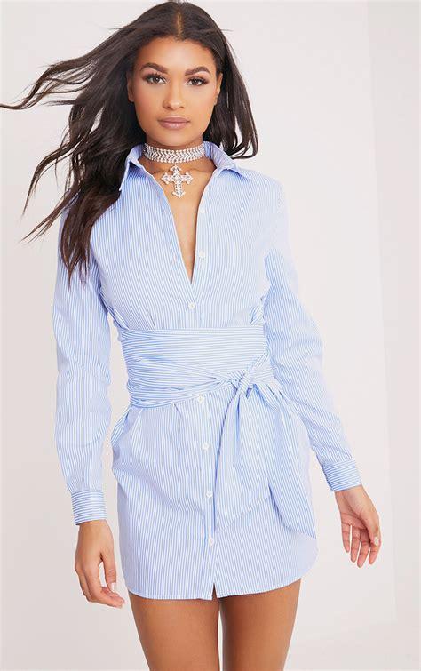 Blue Dress Shirt Tie by Dresses S Dresses Prettylittlething