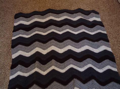 chevron pattern in crochet cobblestones ivy chevron pattern crocheted blanket
