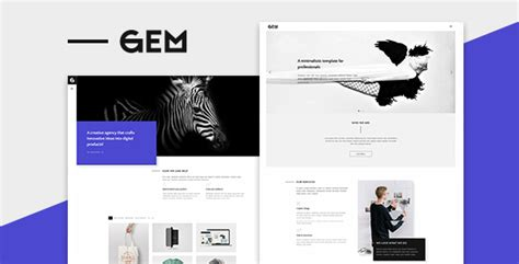 themeforest gem gem a minimalist template for professionals by