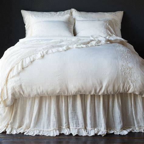 dust ruffles for beds bella notte linen whisper dust ruffle joanna gaines
