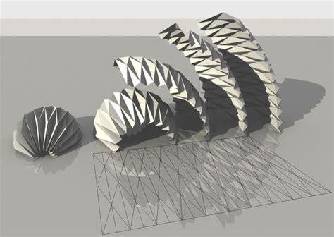 muncie pattern engineering parametric origami by mlab casalevalenticalvano kubus