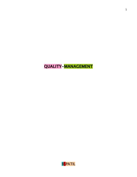 Mba In Environment Management Books by Quality Management Book Bec Doms Bagalkot Mba
