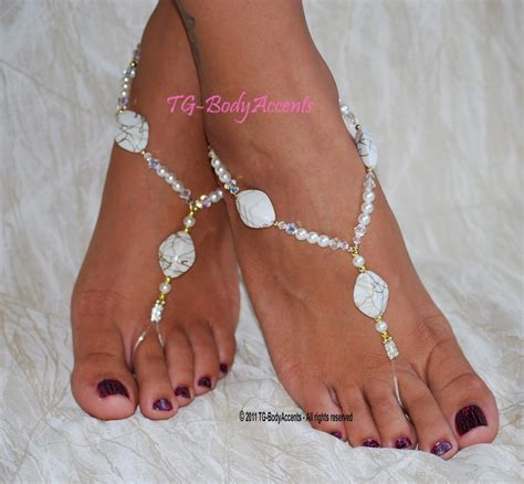 how to make foot jewelry with sandals how to make wedding barefoot sandals