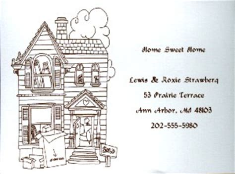 moving home cards template moving cards