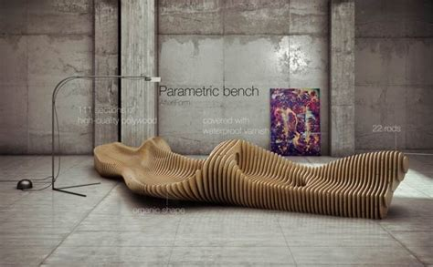 interior bench parametric bench interior design by oleg soroko
