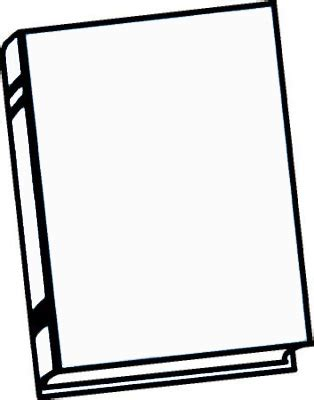 blank book cover template clipart best