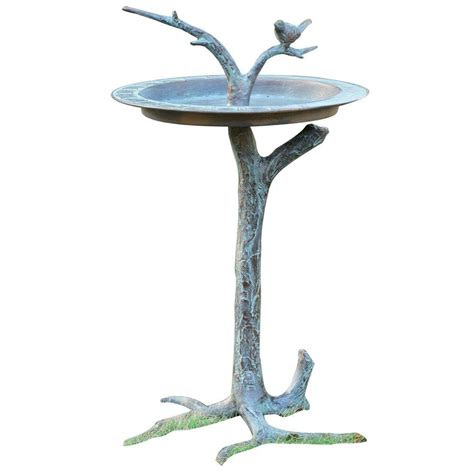 spi bird and twig birdbath 33303 the home depot