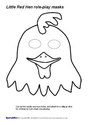printable rooster mask mask clipart hen pencil and in color mask clipart hen