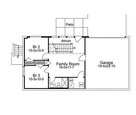 Economical Atrium Ranch Home Plan 57239ha 1st Floor Narrow Lot House Plans With Drive Garage