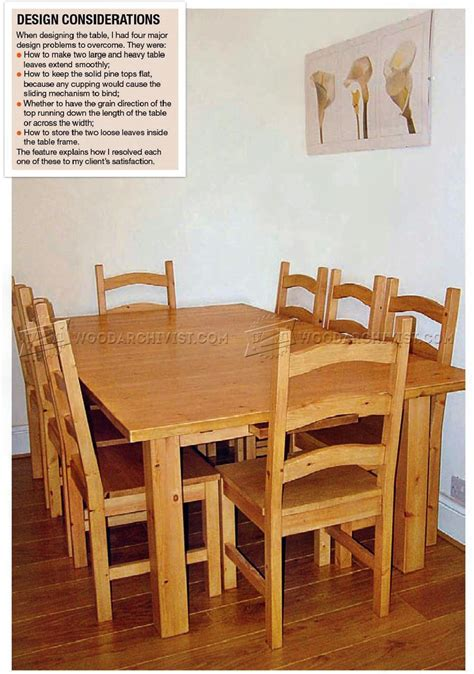 Dining Table Chair Plans by Pine Dining Table And Chairs Plans Woodarchivist