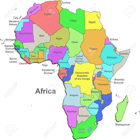 africa map by country countries of africa map search around the world