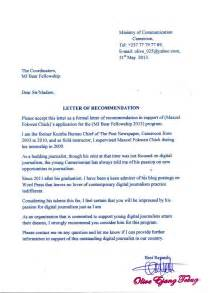 Recommendation Letter Research Fellowship Fellowship Letter Of Recommendation Recommendation Letter