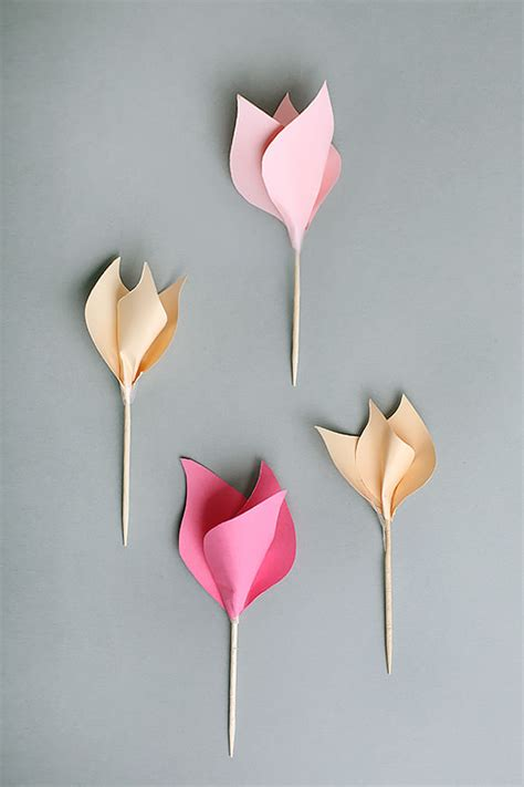 Make Paper Tulips - 7 paper flower crafts for s day handmade