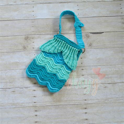 crochet ripple bag pattern lovely mermaid ripple purse every girl needs to complete