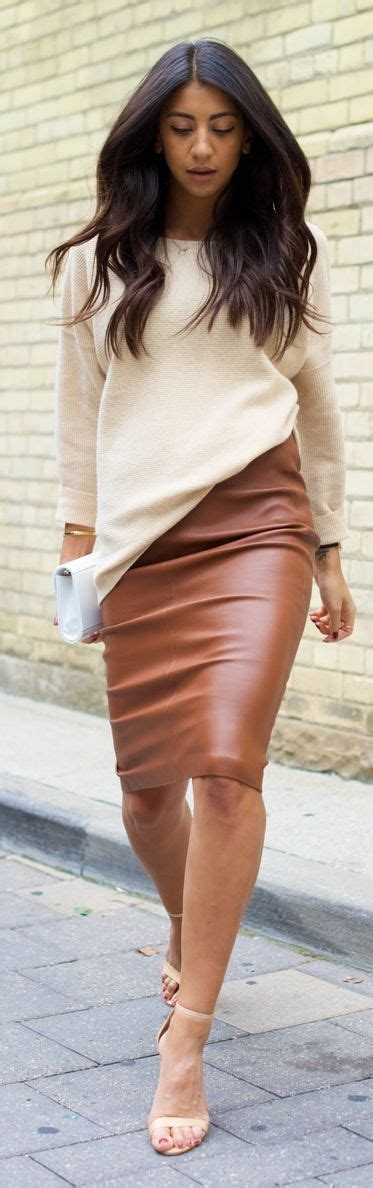 Camel Winter Skirt Y823 leather black button shirt and skirts on