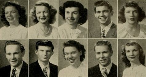 hairstyles for yearbook 1946 high school hairstyles in the yearbook at abraham