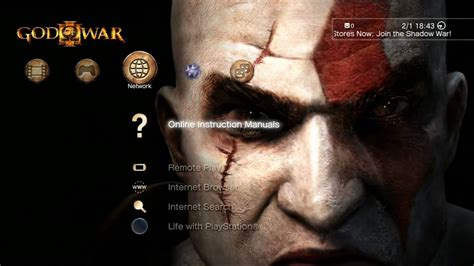 ps3 themes hd god of war god of war iii dynamic theme hd youtube