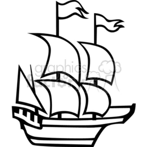 how to draw the mayflower boat royalty free the mayflower ship 374834 vector clip art