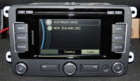 oem vw rns  gps navigation bluetooth  latest  australian maps nz ebay