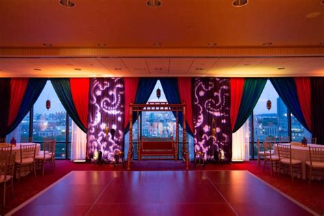 Ami and Anish Indian Wedding Sangeet Decor Hyatt Cambridge