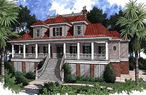 plan 60028rc spacious low country home plan house and