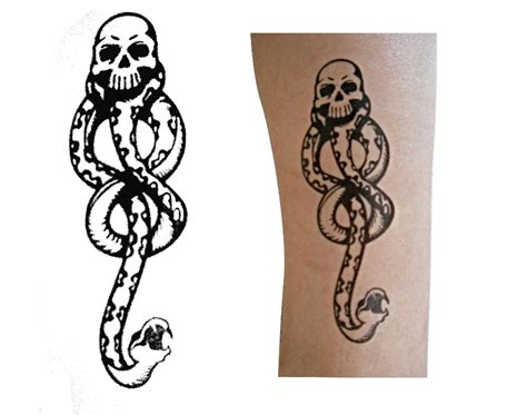 the dark mark tattoo 3pc harry potter eater temporary ebay