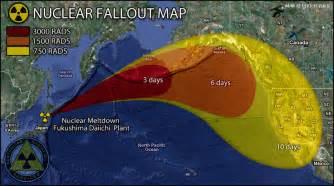 japan fallout map from destroyed fukushima daiichi