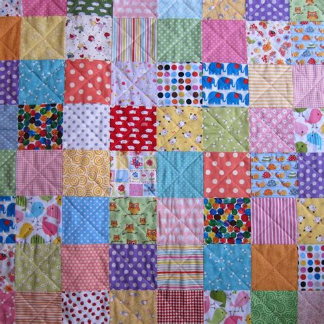 A Patchwork Quilt - the pink button tree make a patchwork quilt in a weekend