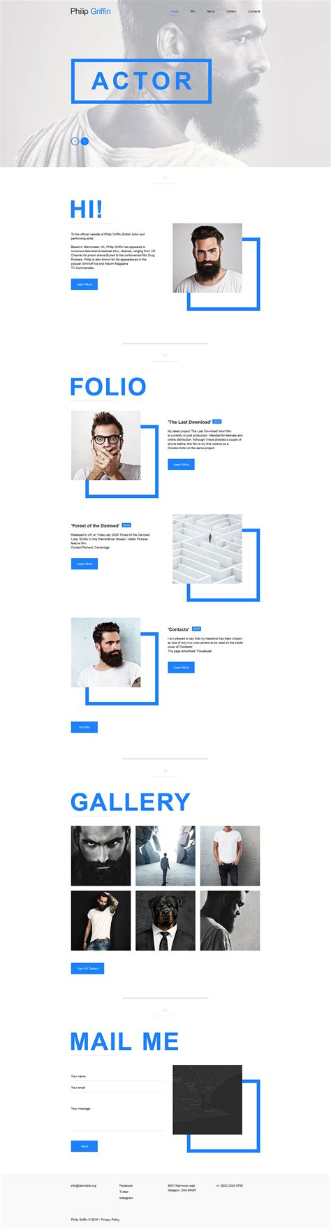 template muse personal page muse template 57719