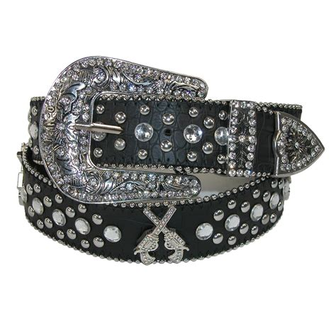 Rhinestone Belt womens western guns and rhinestones belt by ctm 174 casual