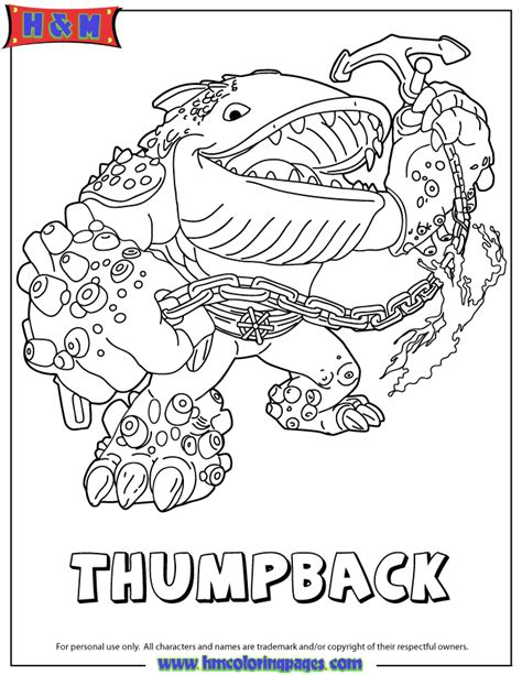 skylander coloring pages skylanders giants water series2 thumpback coloring page