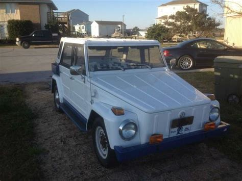 volkswagen thing blue purchase used 1974 vw thing white and blue 1600cc motor