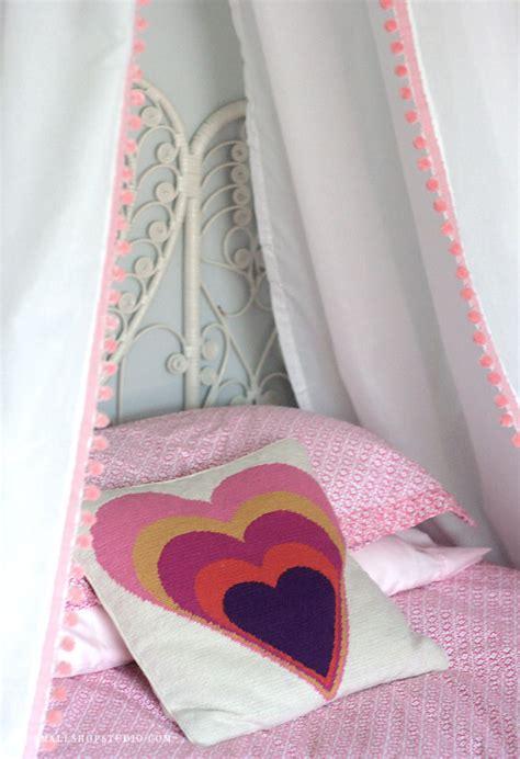 pillow bed diy d i y bed tent canopy erika brechtel